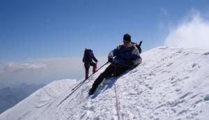 In cima alla Parrotspitze 4463 mt