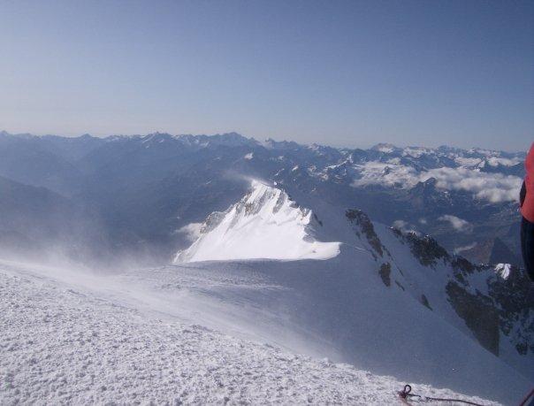Panorama dalla vetta del Bianco