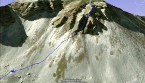 La Meta - via degli Scontronesi dalla piana di Biscurri