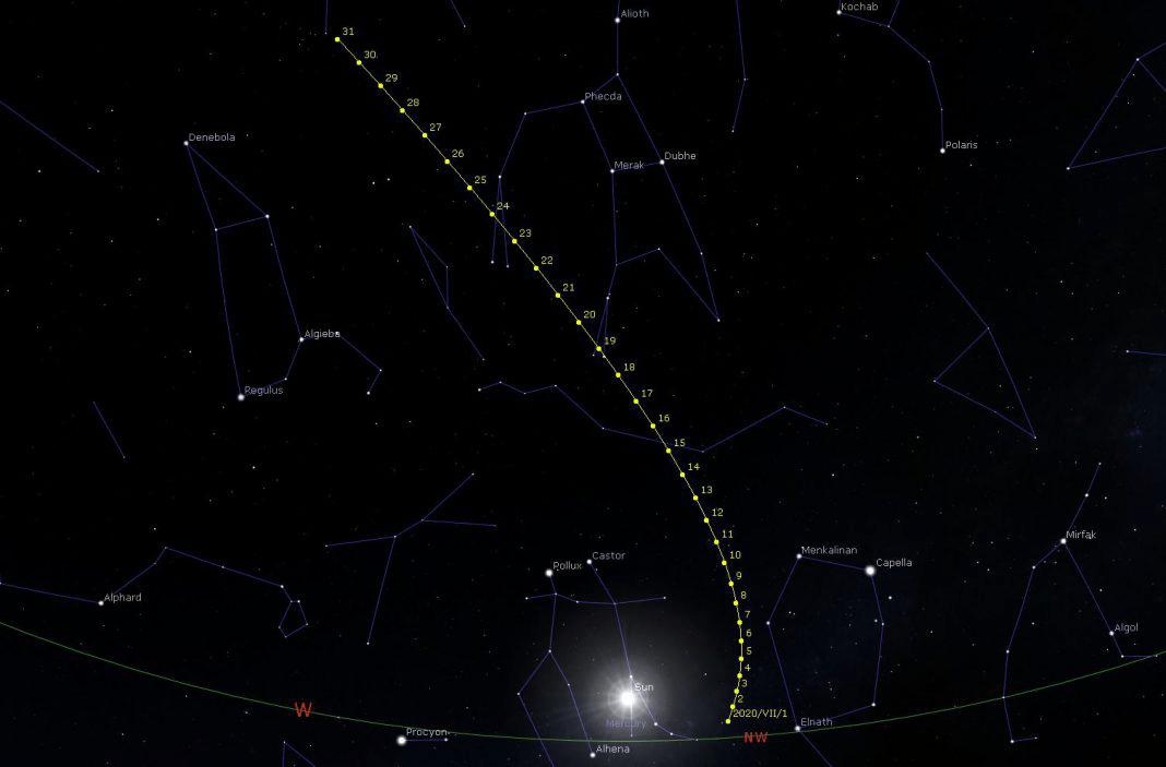 """Sta arrivando la Cometa """"Neowise C/2020 F3"""""""